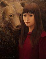Katarzyna Karpowicz: Autoportret z niedźwiedziem