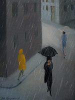 Katarzyna Karpowicz: I like rain 40x32
