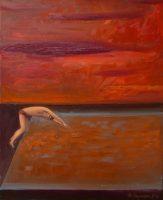 Katarzyna Karpowicz: Swimming pool in orange