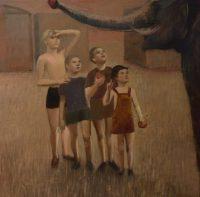 Katarzyna Karpowicz: Boys feeding an elephant