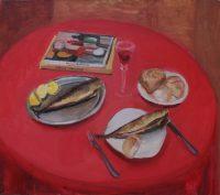 Katarzyna Karpowicz: Still life with mackerels