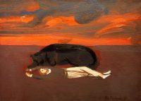 Katarzyna Karpowicz: Dream with orange sky