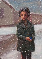 Katarzyna Karpowicz: Dziewczynka, śnieg i niebieska kulka